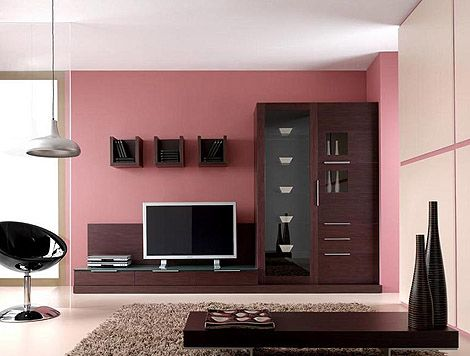 Dark Wood Living Room With Pink Walls Jpg Jpeg Image 470x356 Pixels Dark Wood Living Room Living Room Wood Pink Bedroom Walls