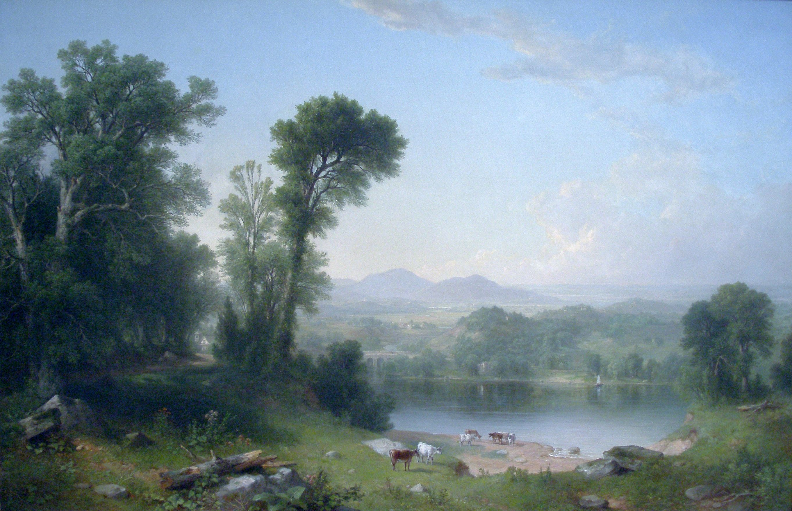 1861 Asher Brown Durand World Famous Paintings Fine Art Landscape Famous Landscape Paintings