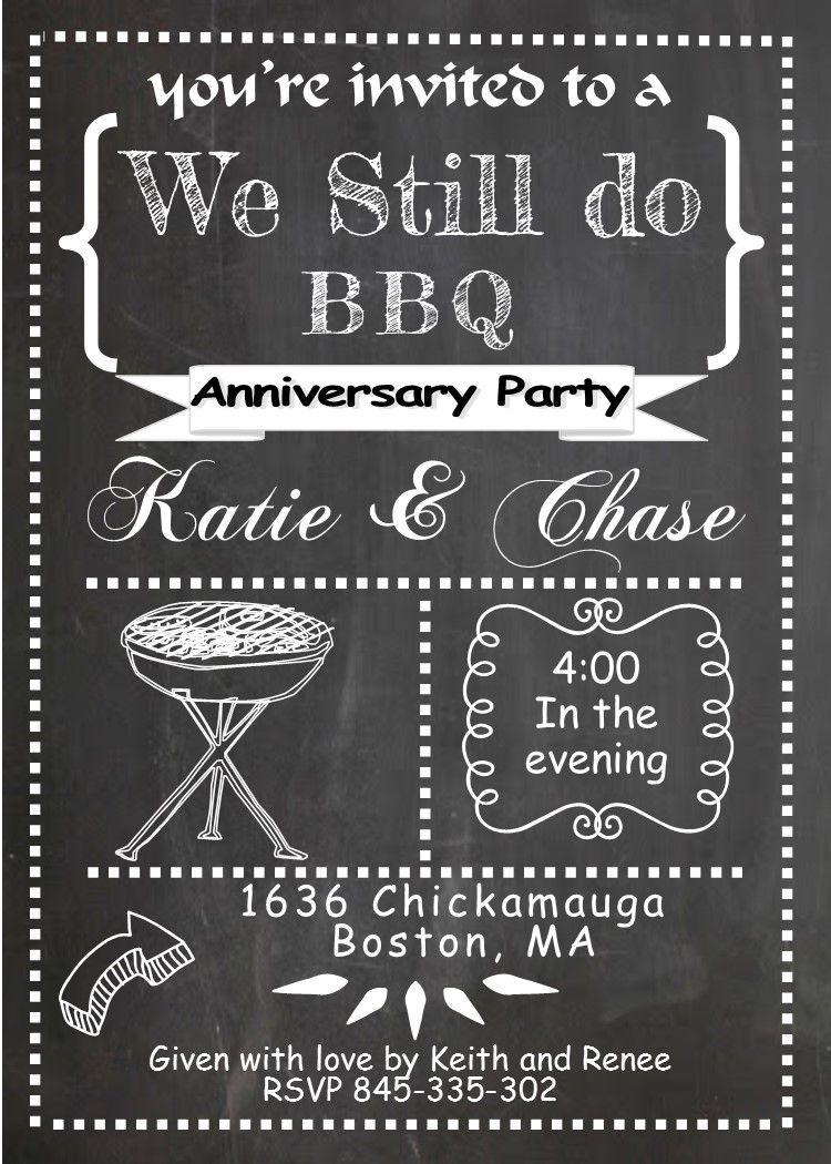 We Still Do Bbq Anniversary Party Invitations 25th Anniversary Party Anniversary Party Invitations 10th Anniversary Party