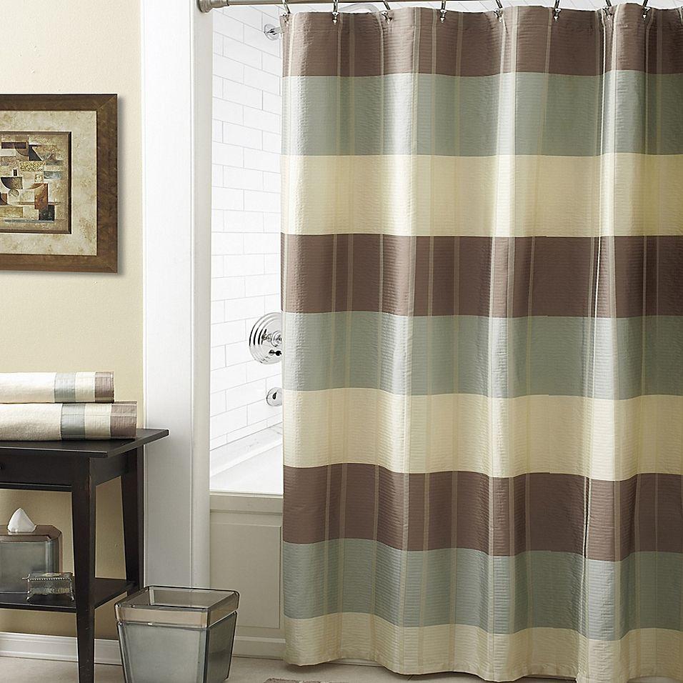 Croscill Fairfax 54 X 78 Shower Curtain In Taupe Green Shower