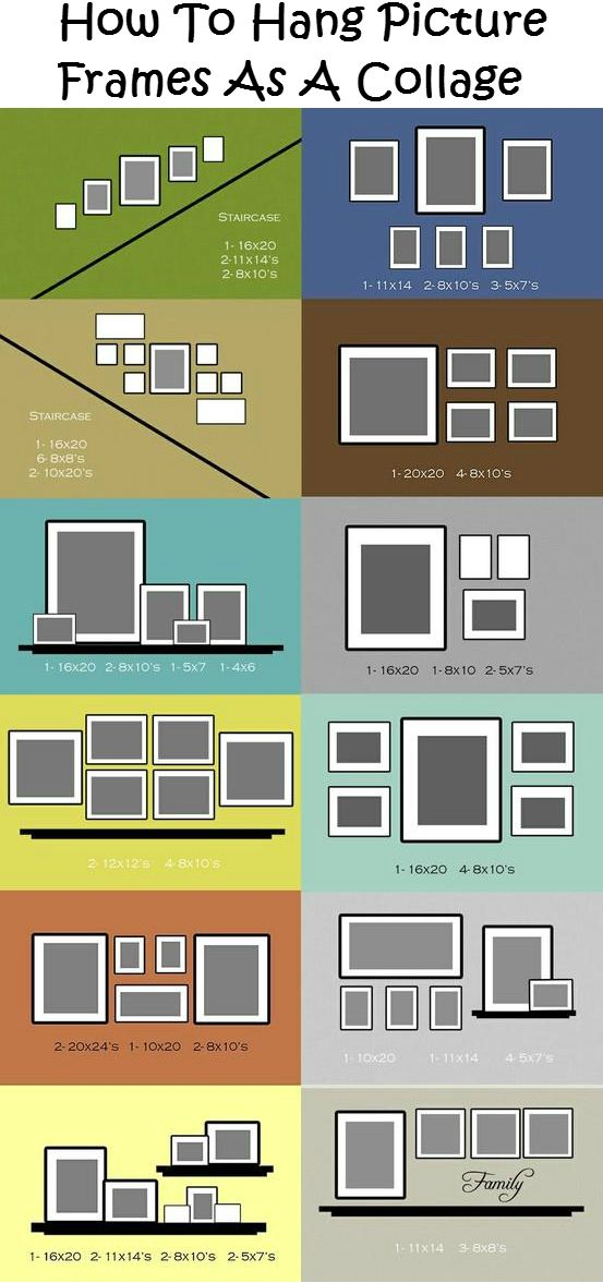 How To Hang Picture Frames As A Collage Diy Ideas 4 Home Pictureframes Hangingpictures Photocollage