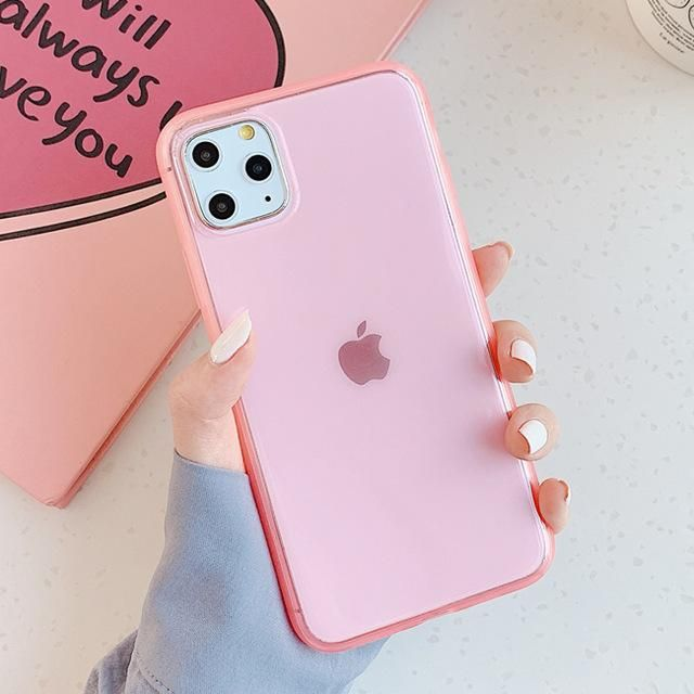 Candy Color Phone Case - For iphone 11 / Pink