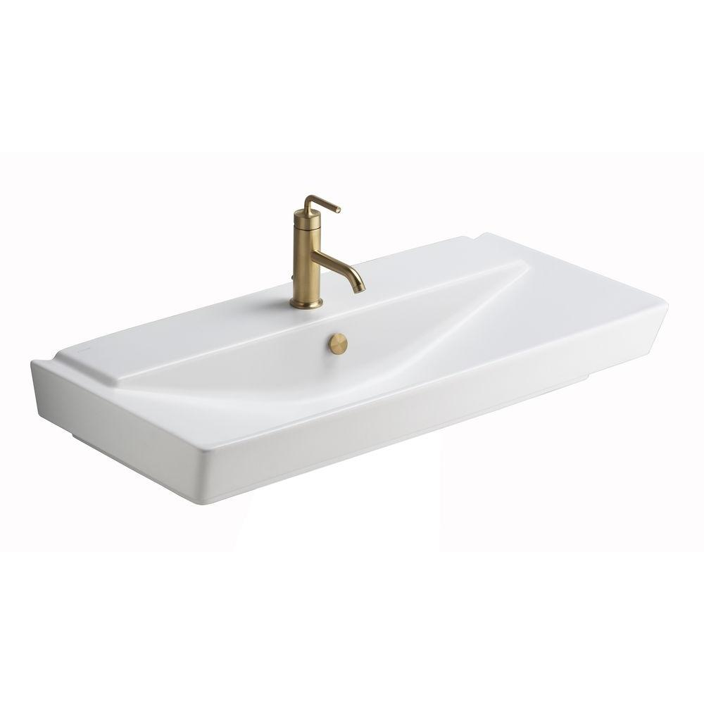 Reve Self Rimming Bathroom Sink In Honed White Products Sink