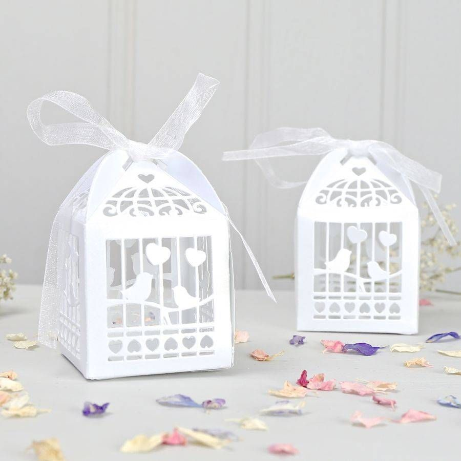 pack of ten birdcage favour boxes by lisa angel wedding ...