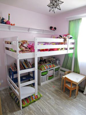 Ikea mydal hack loft with storage underneath furniture for Kinderzimmer play 01