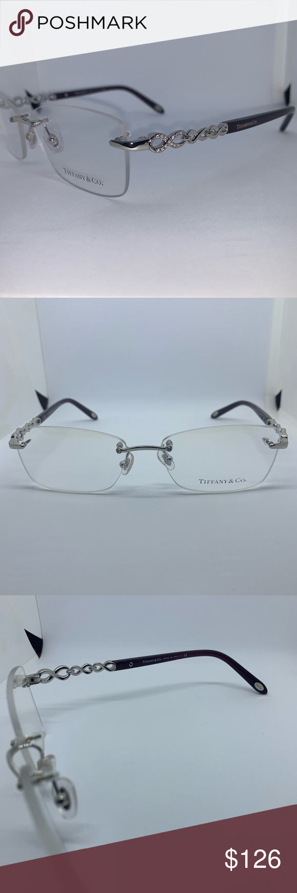 8cd947e3e327 Tiffany 1117B Clear Silver Women s Eyeglasses 100% Authentic Tiffany 1117B  Clear Silver Women s Eyeglasses Frame