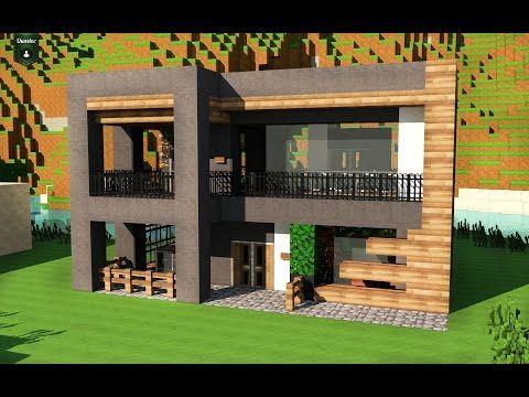 Videotuto Tuto Deco Amenagement D 039 Interieur Moderne Amenagement Interieur Moderne En 2020 Architecture Minecraft Maison Moderne Minecraft Minecraft Moderne