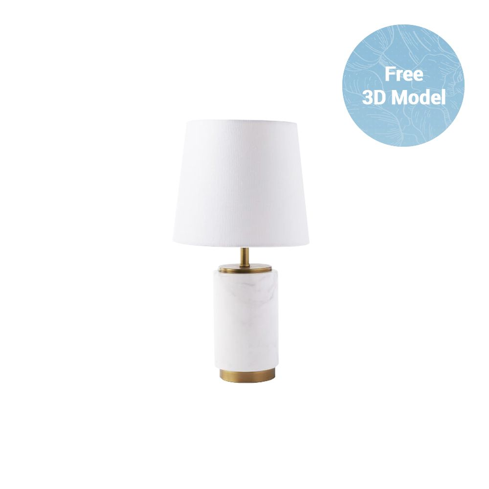 West Elm Pillar Table Lamp Free 3d Model Table Lamp Lamp Pillars