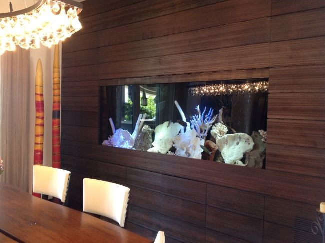 Design Aquarium Kast : Aquarium wand integriert deko koralle holz wandverkleidung