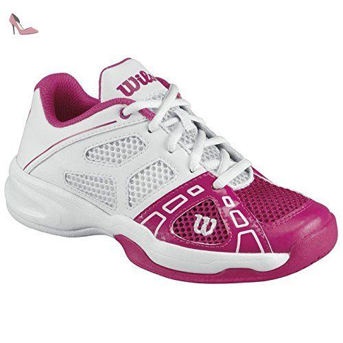 Wilson Wrs317020E015, Chaussures de sport mixte enfant - Blanc (White), 34 EU