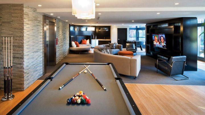 Top Modern Basement Design Ideas Modern Basement Basements - Basement game rooms