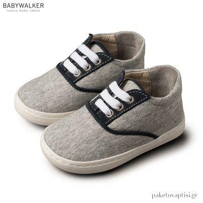 5a6358f7541 Δετά Γκρι με Μπλε Sneakers Babywalker BS3043 in 2019 | Babywalker ...