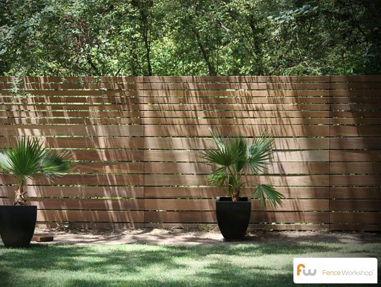 The skyline horizontal board wood privacy fence for the - Gunstiger gartenzaun ...