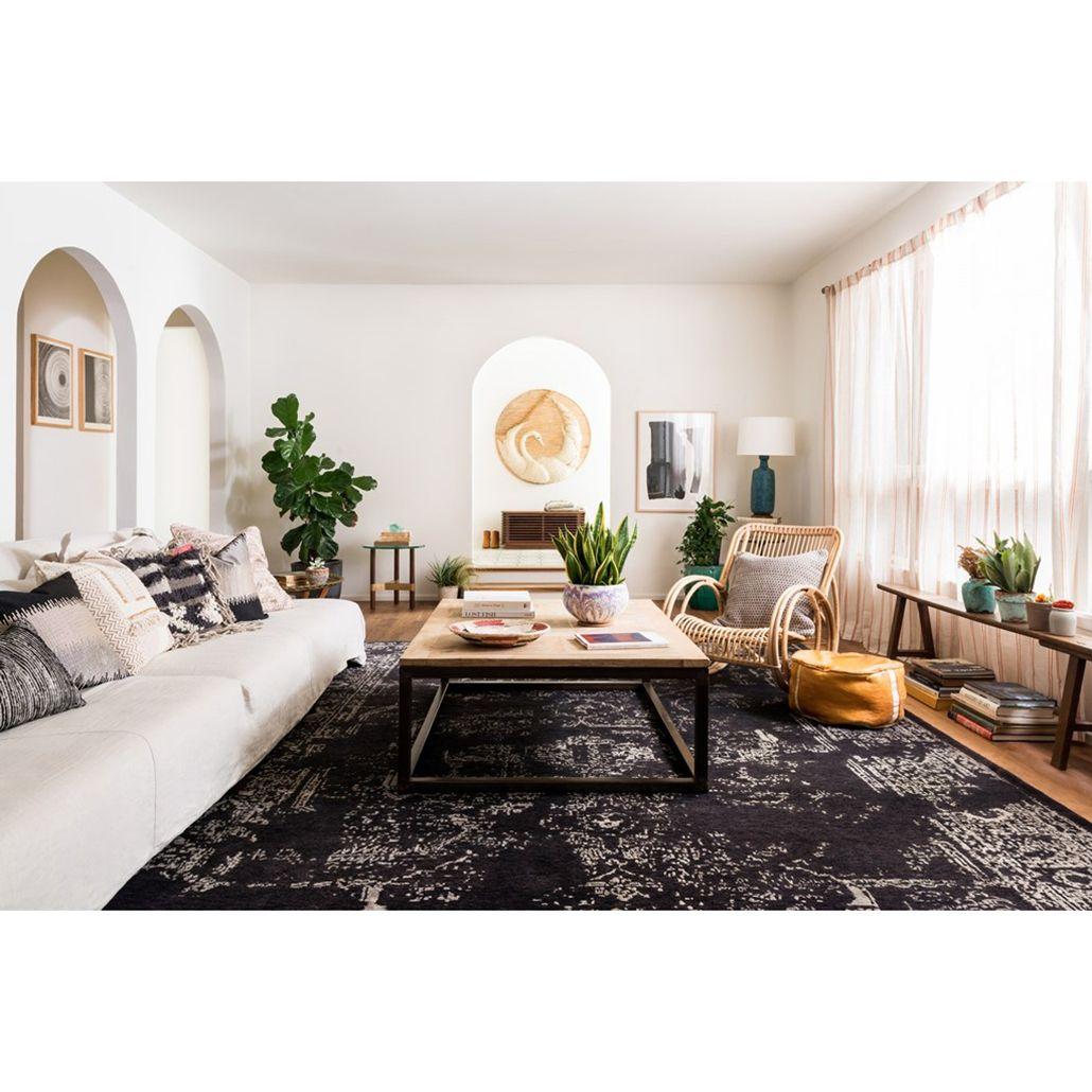 Tash Global Charcoal Antique Traditional Wool Silk Rug Sample Black Rug Living Room Black Living Room Modern Rugs Living Room