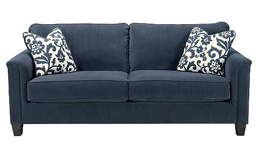 ashley furniture ballari linen sofa hay mags kissen keendre - indigo sofa, | new ...