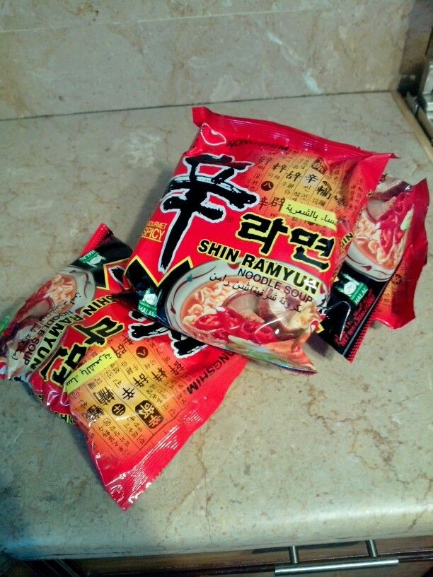 One of my fav noodles! These are Korean noodles really hot and spicy