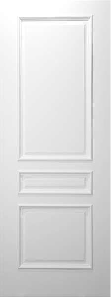 3 Panel Square Top White Primed With Raised Moulding 1 3 4 El Tm3 Interior Solid Primed Eto Doors Doors Interior Wood Doors Interior Primed Doors