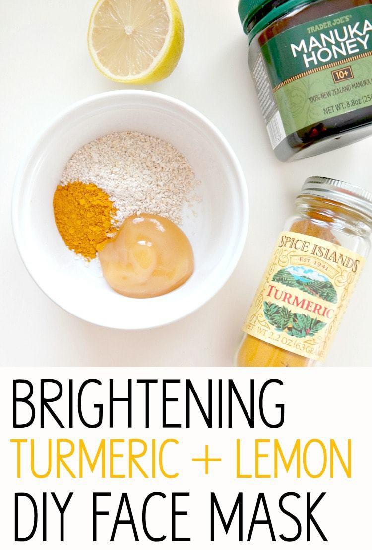 Photo of Glowing Skin Series: Brightening Turmeric + Lemon DIY Face Mask