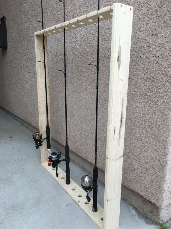 Storage Ideas · Fishing Pole Holderrackshelf By DCScraftz On Etsy