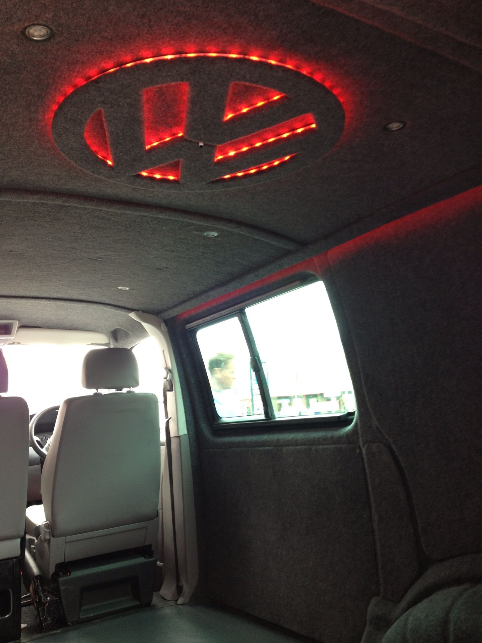Vw Transporter T5 Fully Carpeted With Mood Lights Done
