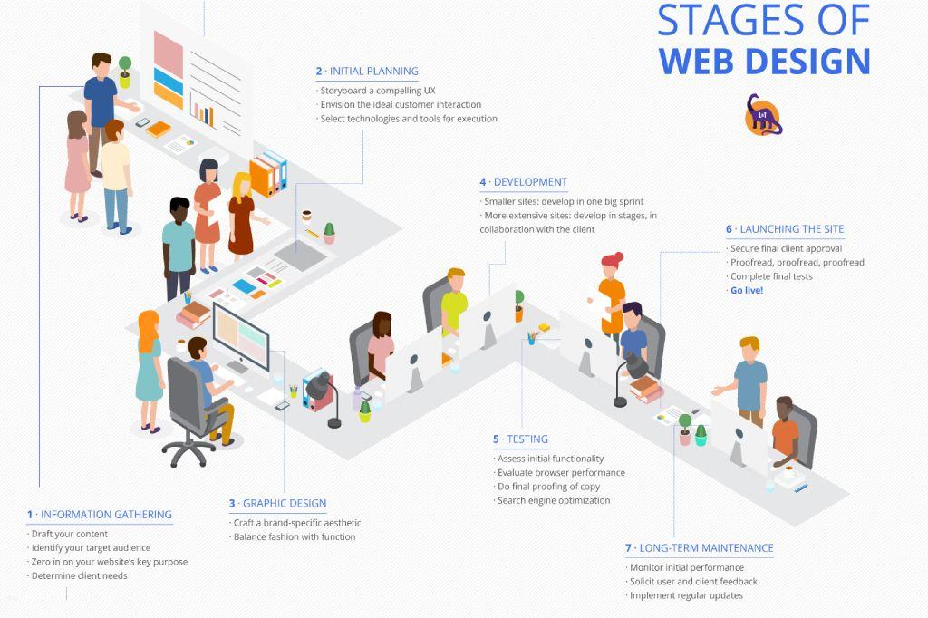 Stages Of Web Design Web Design Design Agency Design