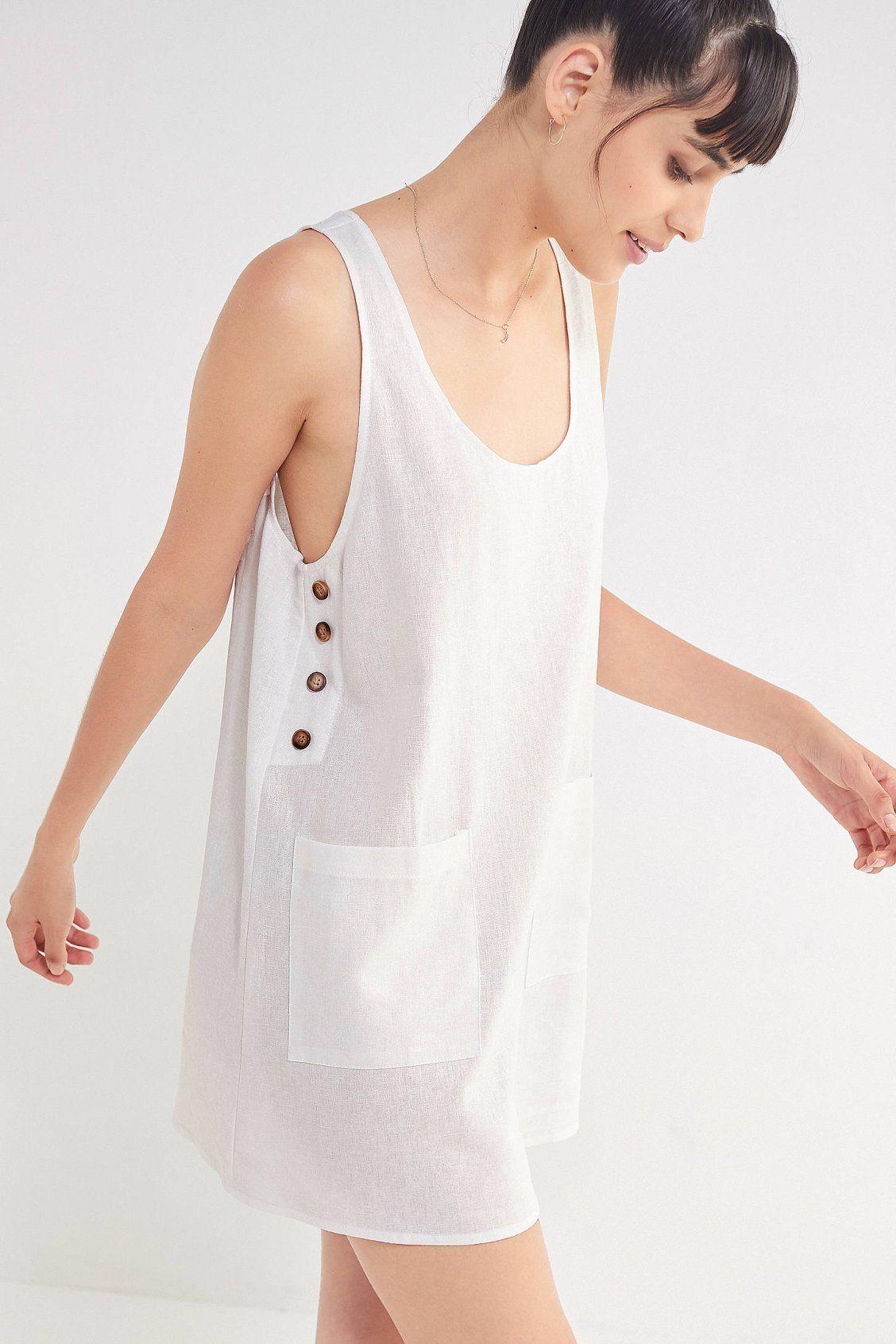 7dafae8b0a6 Urban Renewal Remnants Side-Button Linen Dress