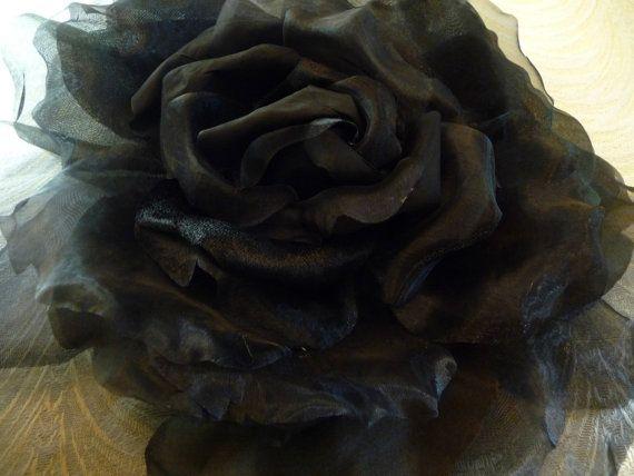 Extra large silk and velvet rose solid black millinery flower extra large silk and velvet rose solid black millinery flower mightylinksfo