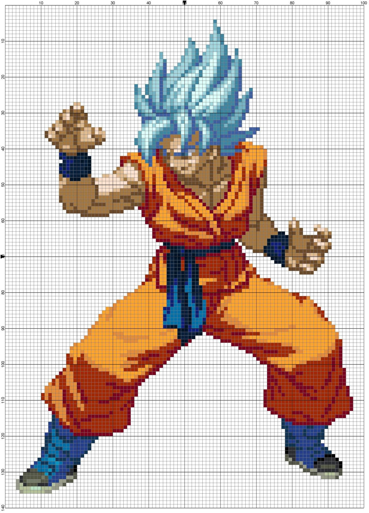 8 Bit Cross Stitch How About A Little Dragon Ball Z These