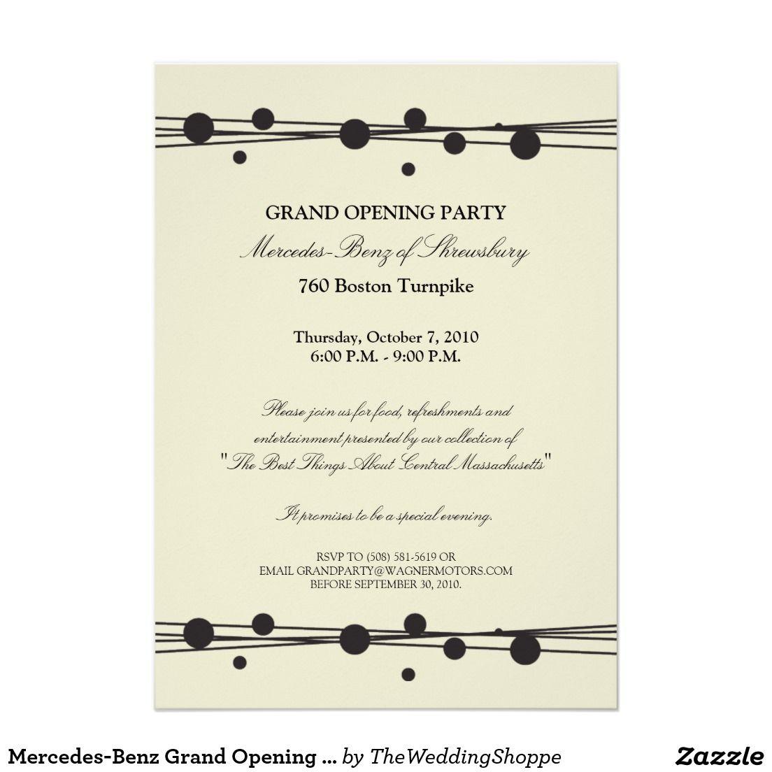 Invitación De La Gran Inauguración De Zazzle Es Gran