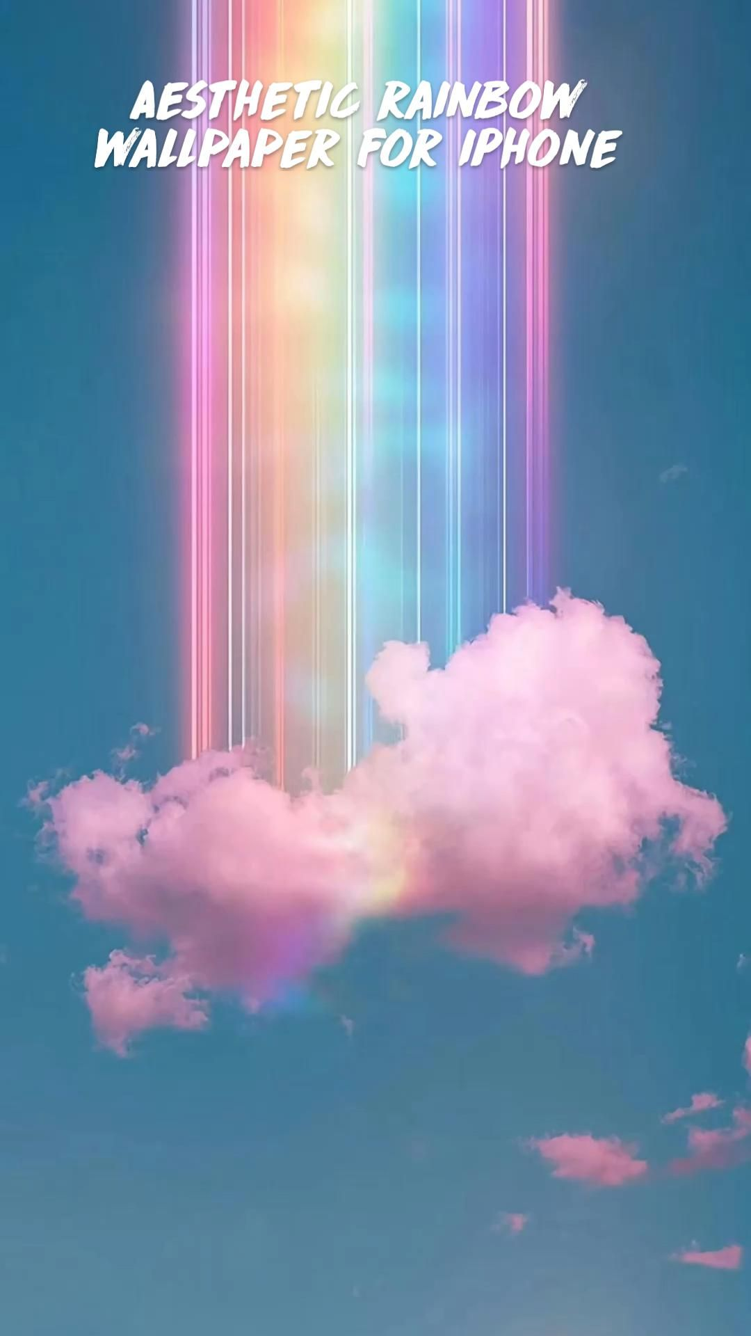 Aesthetic rainbow wallpaper for iPhone