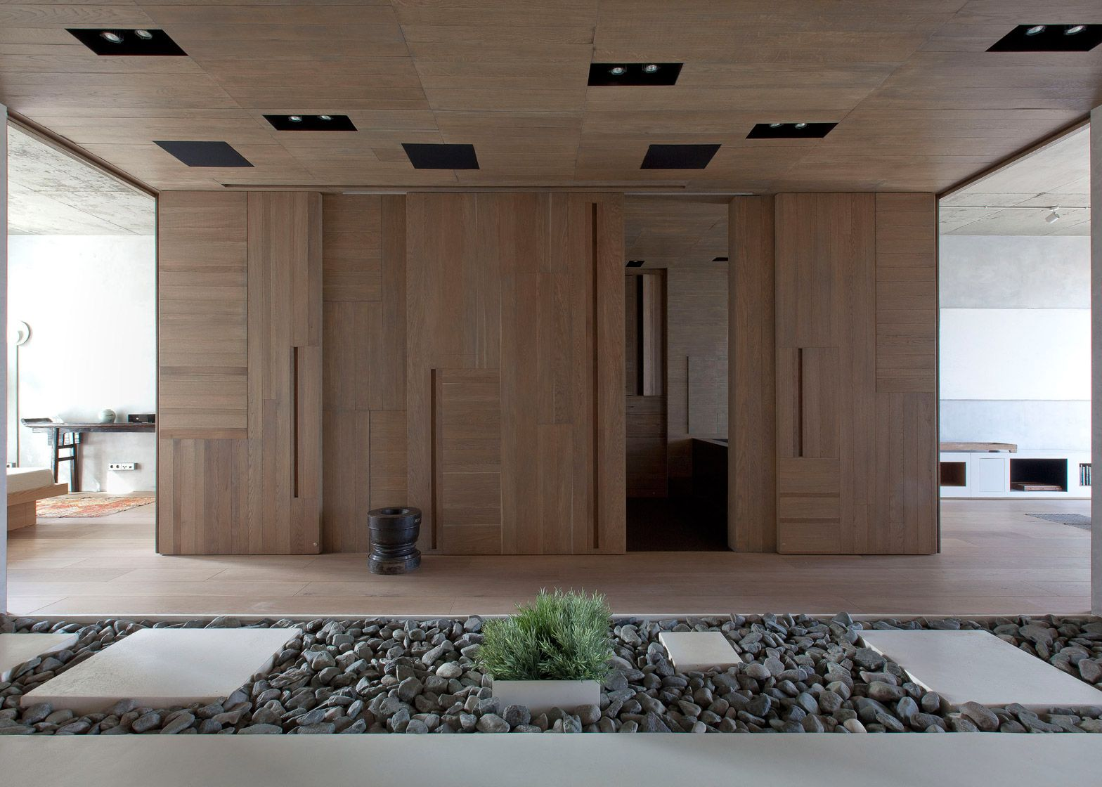 Traditional Japanese interiors and natural landscapes influenced the ...