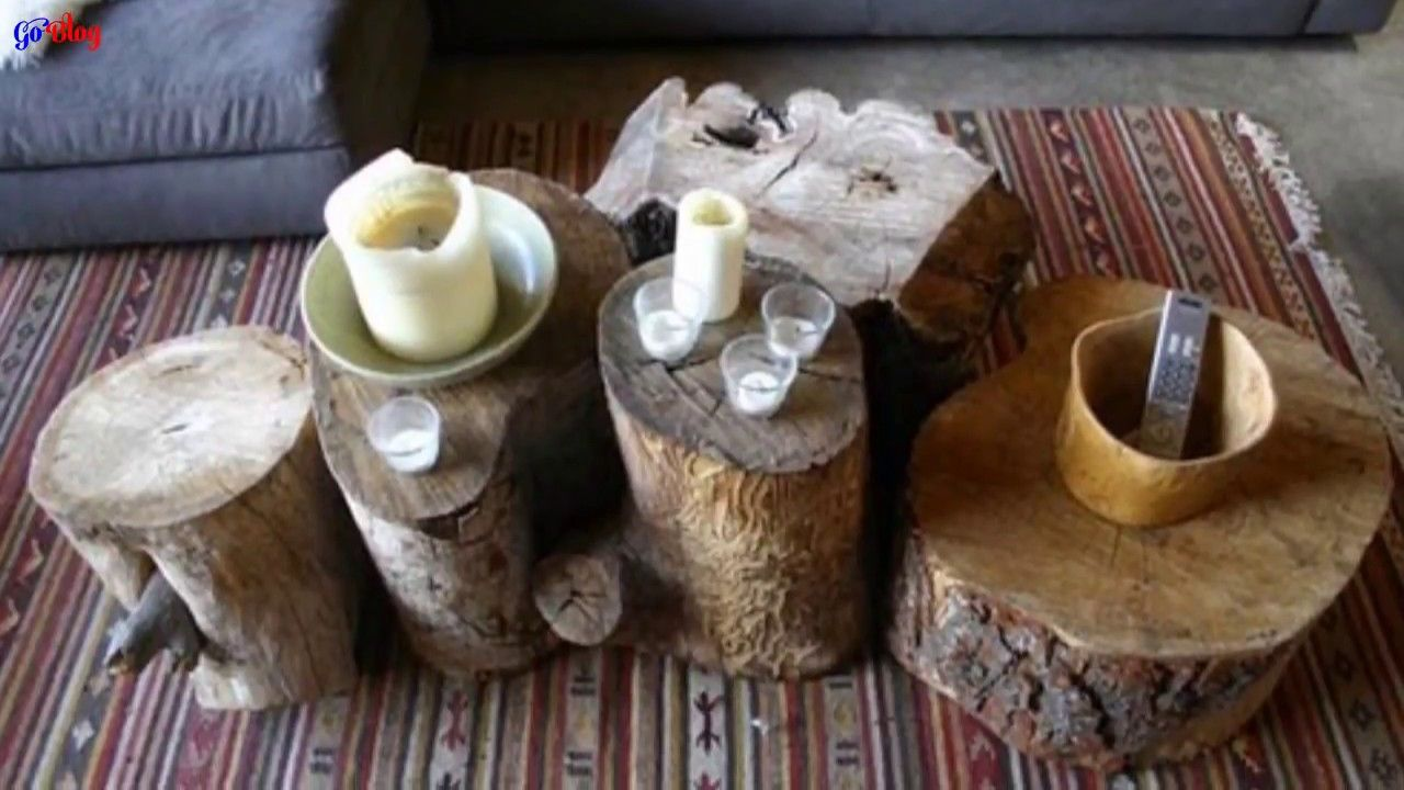 Ideas de decoración con troncos de madera Decoración de