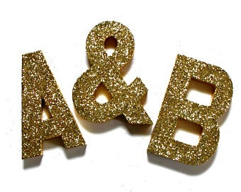 Glittered Number & Letter Photo Props & by