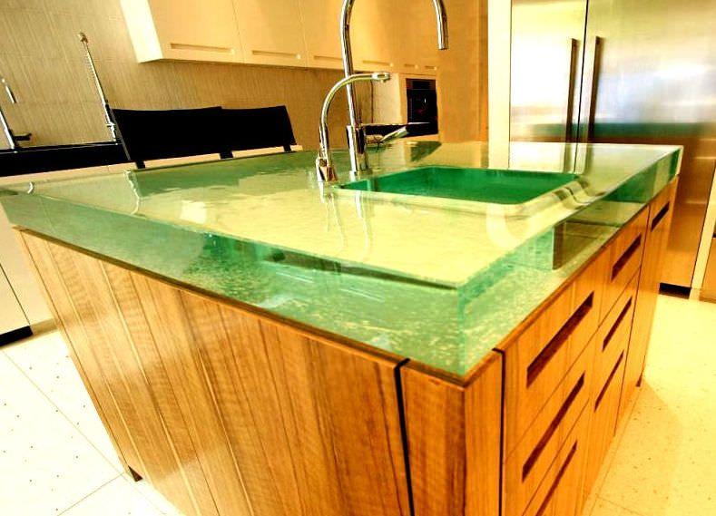 Glass countertop - ISLAND MASTERPIECE - Think Glass Sanctuary