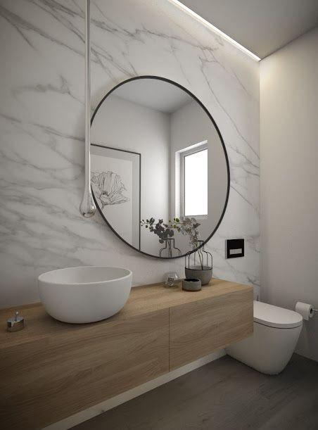 cuarto de baño moderno con luz indirecta | Diseño de baños ...