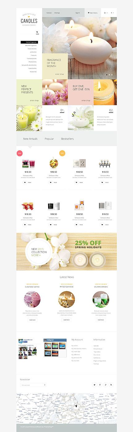 Template Handmade Candles Responsive PrestaShop Theme Web - Awesome after effects website template design