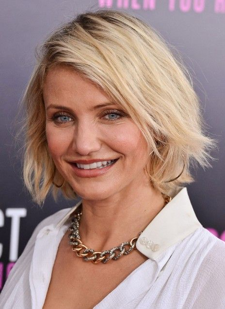 Best Short Bob Hairstyles For Women Over 40 Cameron Diaz Haircut Celebrity 2017