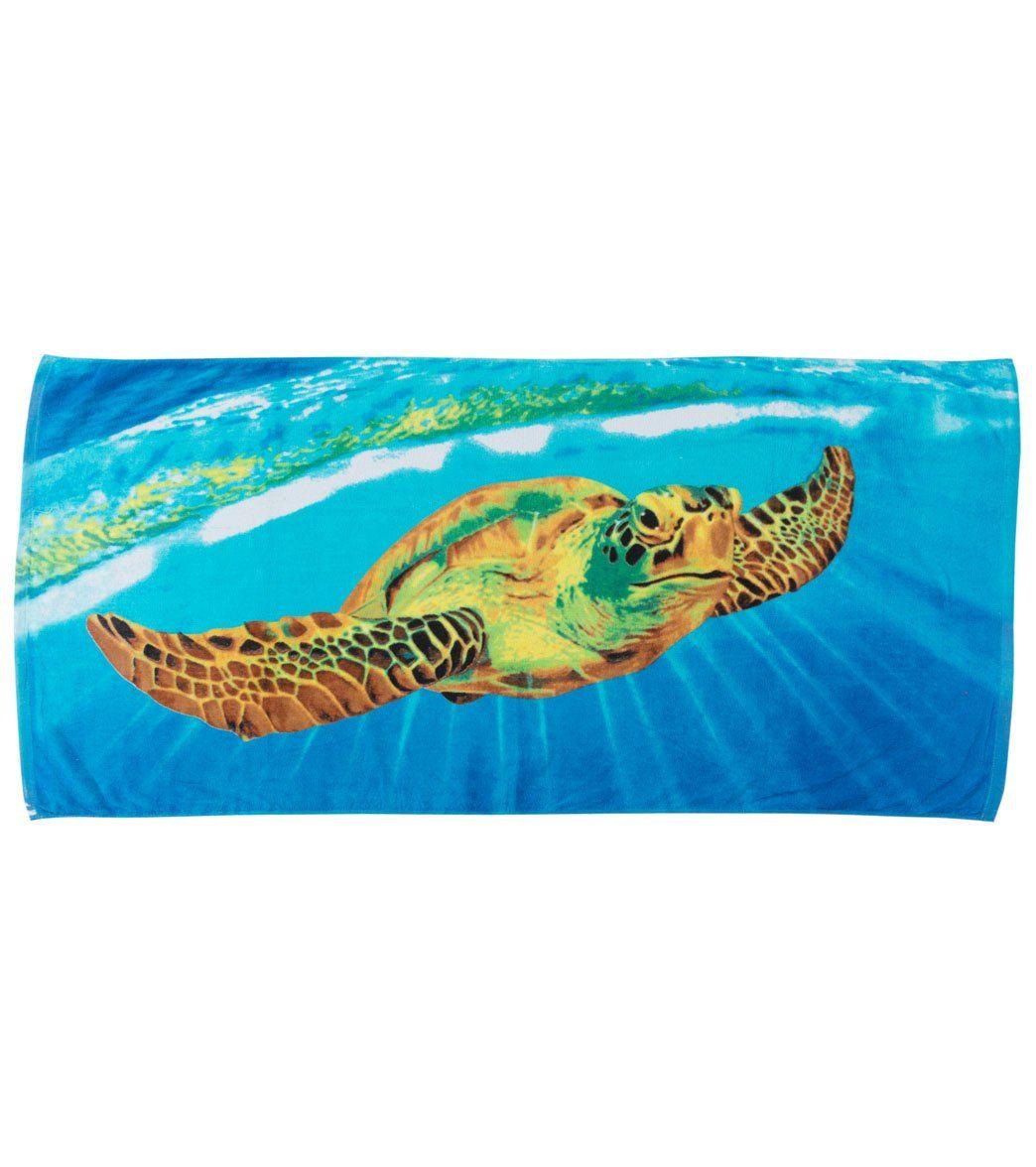 Turtle towel turtle towel sea turtle print swim towel