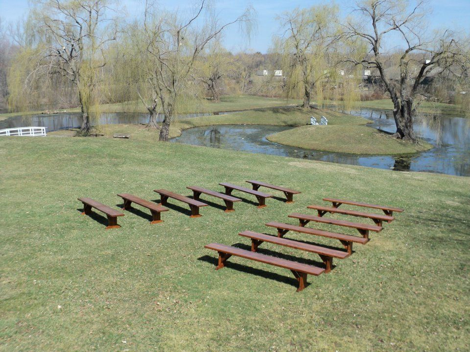 Rent Benches For Wedding Part - 33: Need To Rent A Farm Benches For Your Next Wedding Or Event? Contact  Connecticut Rental Center, Based In Middletown.