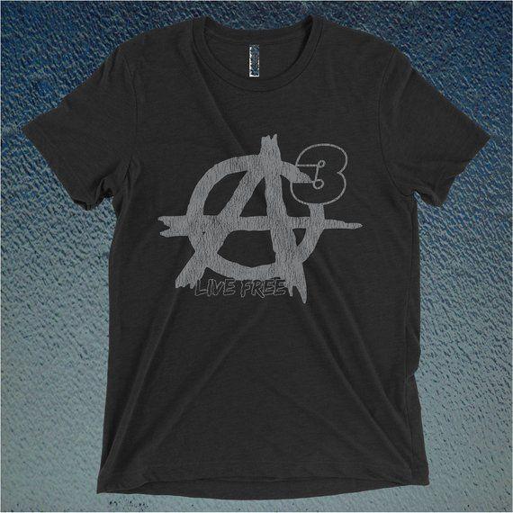Agorism A3 Distressed Graphic Tri Blend T Shirt Or Hoodie Etsy Custom Shirts T Shirt Shirts