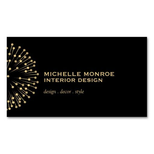 Vintage Modernist Starburst Interior Designer Business Card - starburst templates