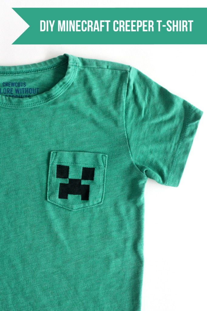 eb18eebe last minute DIY boy gift idea- this Minecraft creeper shirt takes about 20  minutes to put together!
