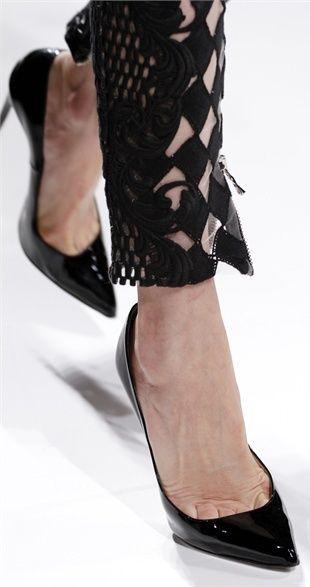 Balmain Black Cutout Pants And Pumps #Fashionistas
