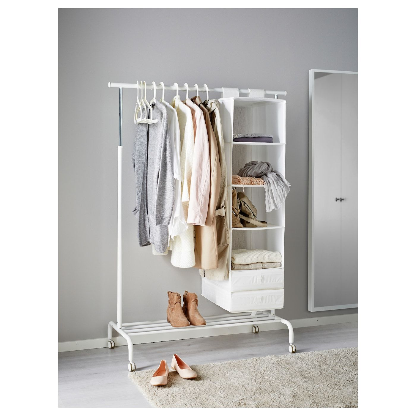 RIGGA Garderobenständer weiß  Products in 15  Kleiderständer