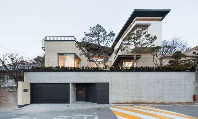 Modern Naegok V House In Seoul Korea Desain Eksterior Rumah Arsitek Rumah Megah