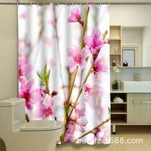 peach blossom 3d printing shower curtains flower shower curtain bathroom curtain modern shower