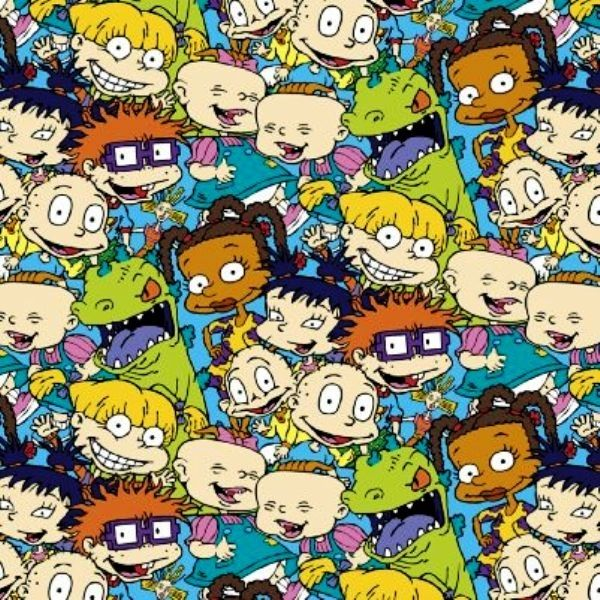 nickelodeon rugrats packed characters cotton fabric nickelodeon