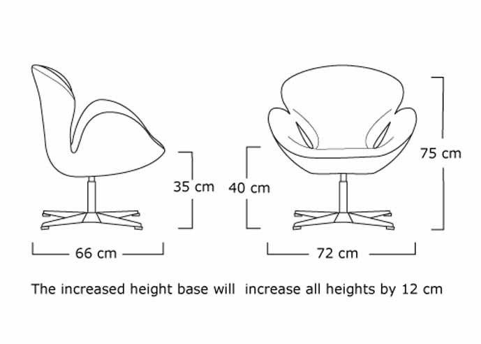101 126 Dim 2 Jpg 689 492 Dimension Swan Chair Arn Jacobson Swan Chair Swan Chair Arne Jacobsen Chair