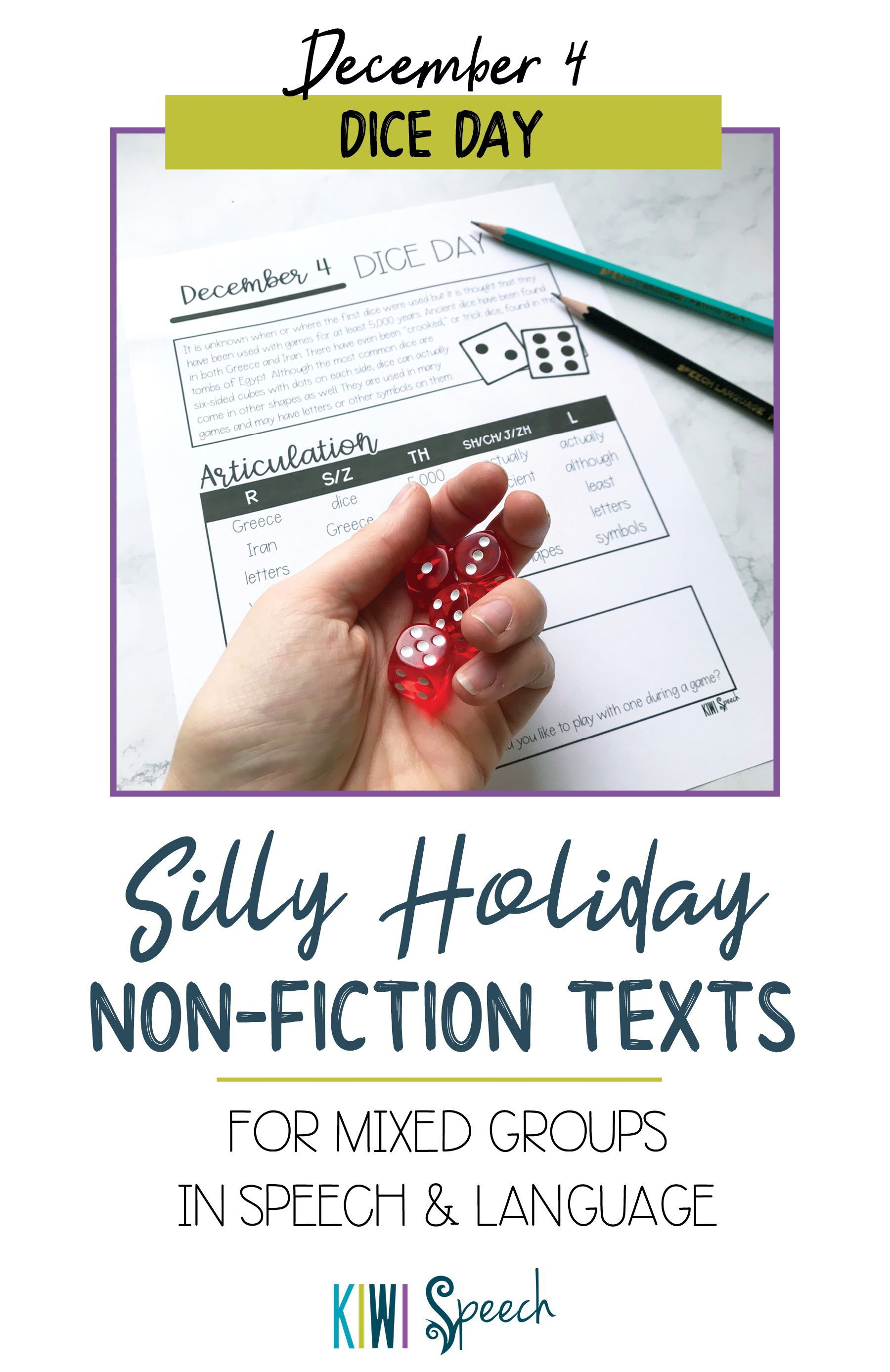 No Prep Silly Holiday Texts For Speech Therapy Mixed