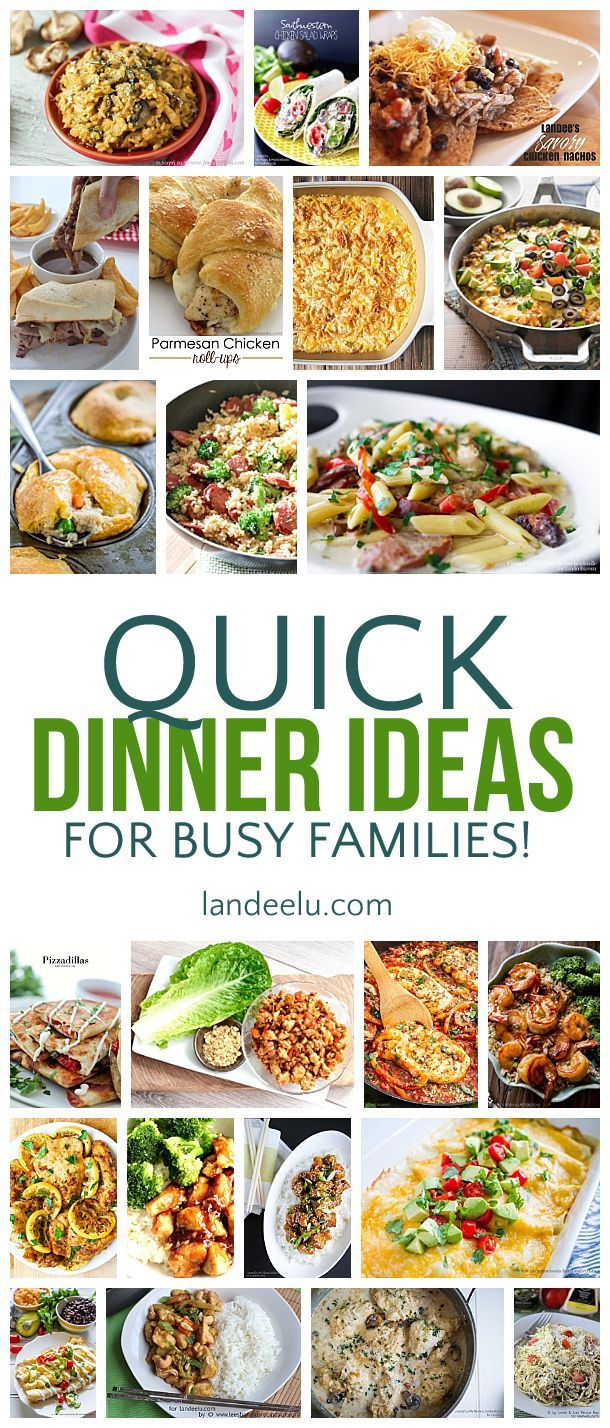 Quick dinner ideas for busy families quick dinner recipes dinners a ton of awesome quick dinner recipes and ideas for busy families i can forumfinder Choice Image